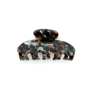Brown and Teal Large Claw Clip