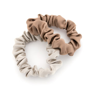 Neutral Silk Scrunchies
