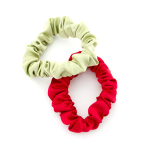 Christmas Silk Scrunchies
