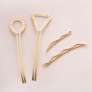 Pearl Brass Bobby Pins