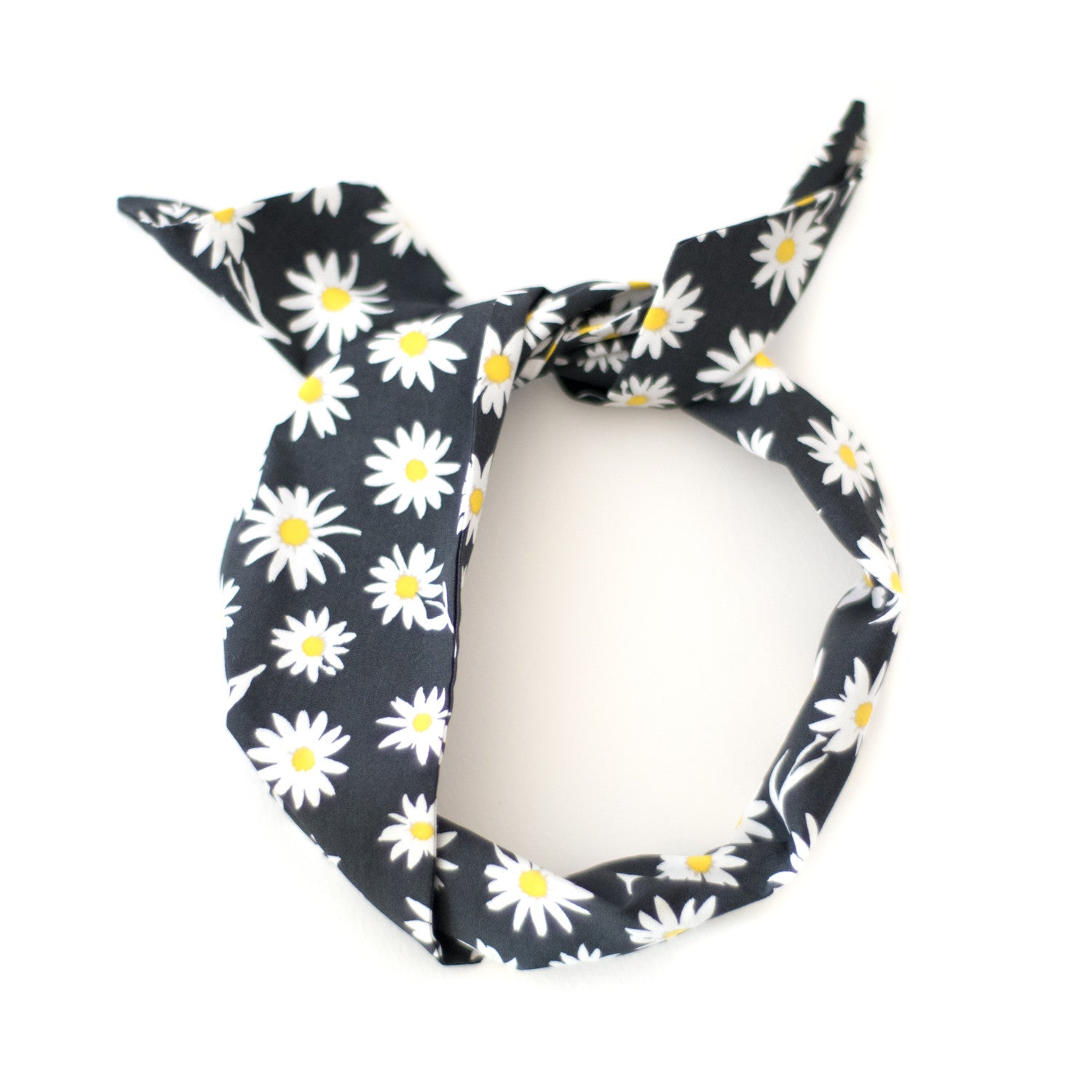 daisy print floral wire headband easy to style