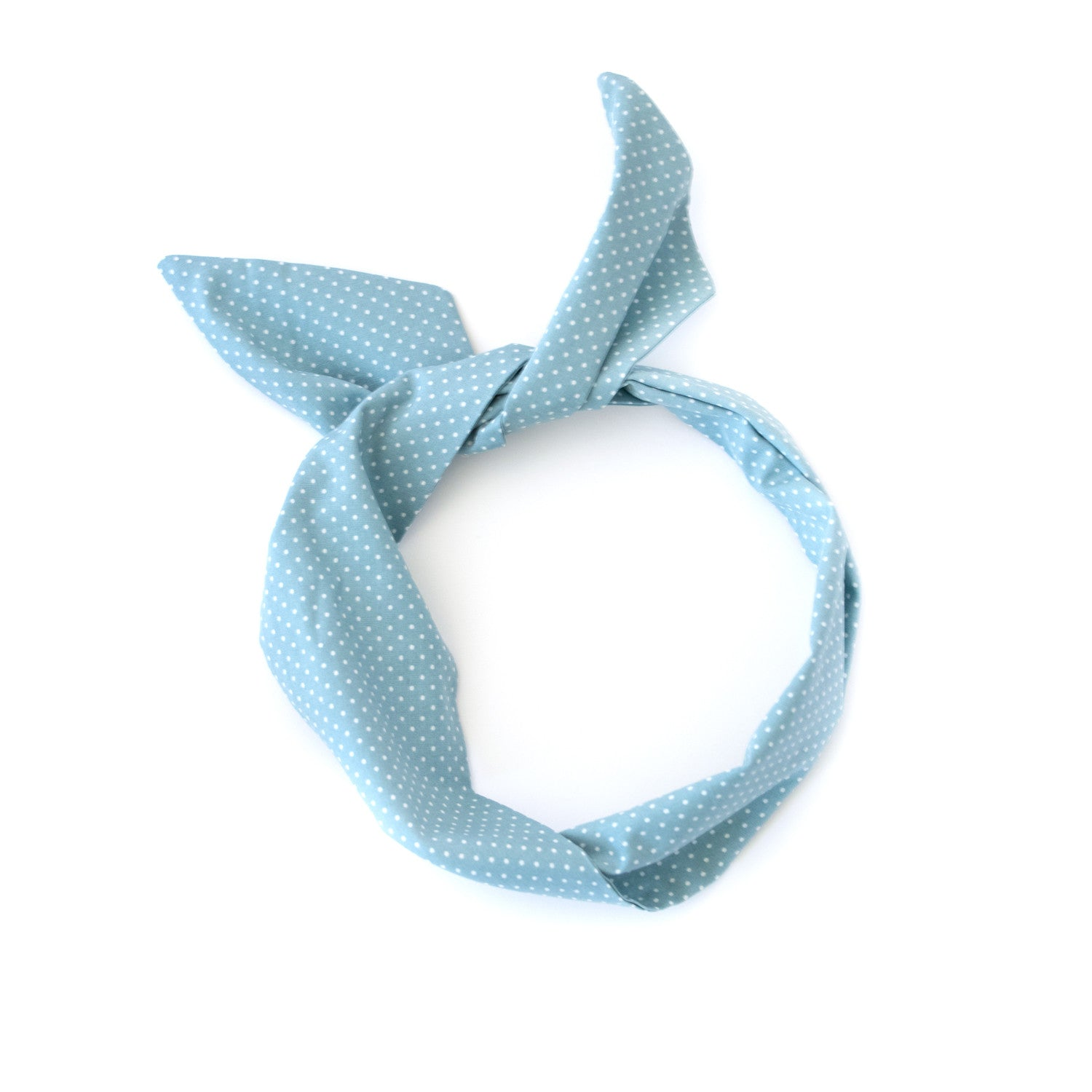 Chambray Dot Wire Headband