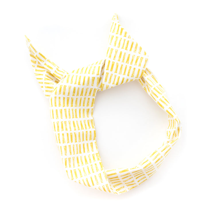 Yellow Dash Wire Headband