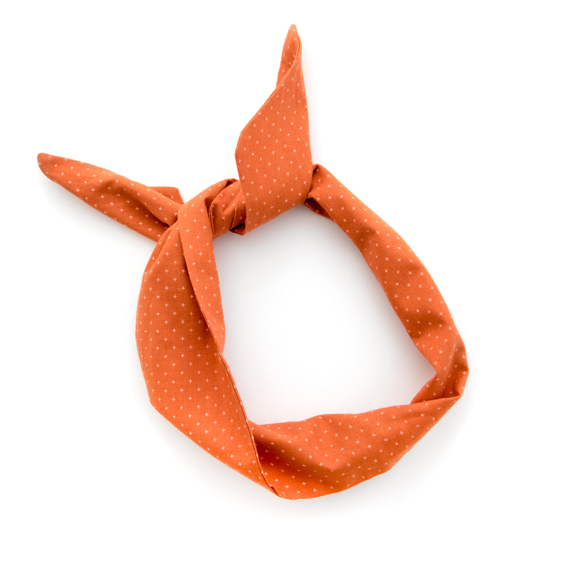 Rust Orange Wire Headband