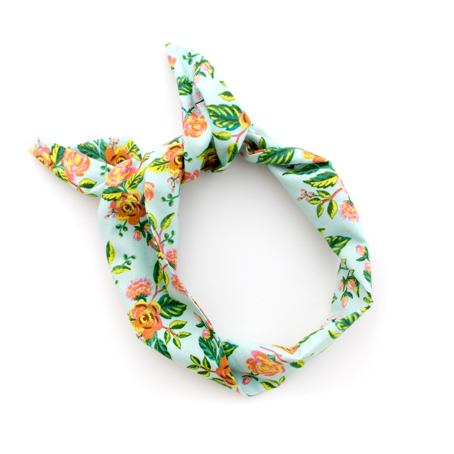 Mint Floral Wire Headband
