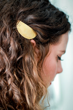 Small Shield Barrette by Mane Message