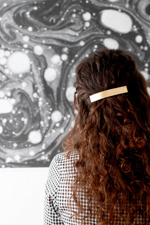 Large Brass Barrette by Mane Message