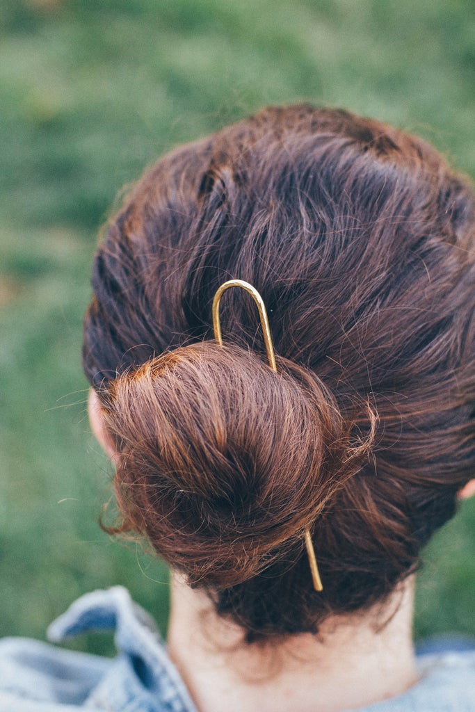 buns for hair styles horseshoe textured hair pins brass bun pin made in ca 9107