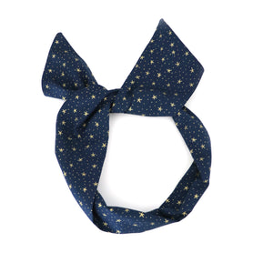 Navy Star Wire Headband