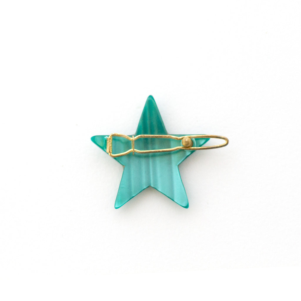 star shaped vintage hair barrette - clip - bobby pin