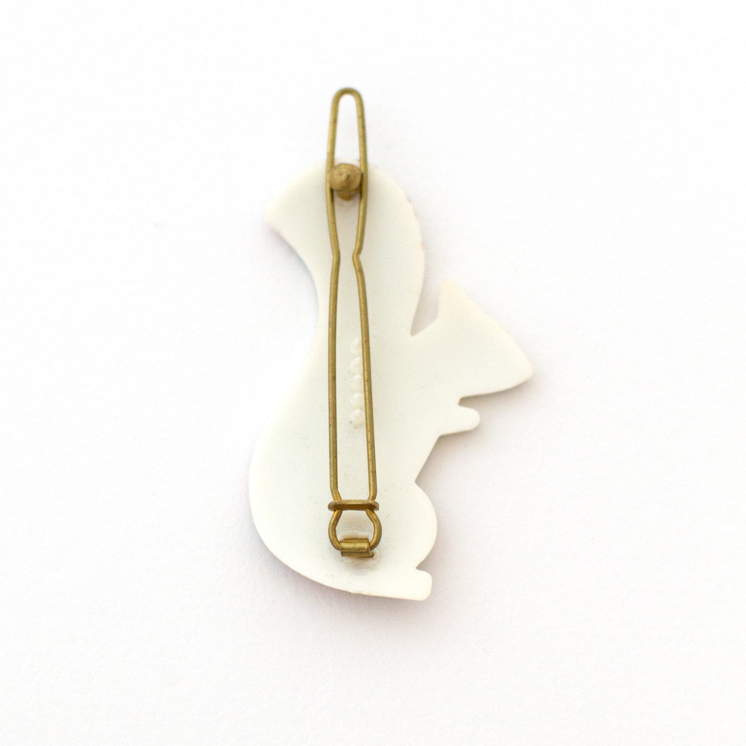 flexible brass backing for hair clip