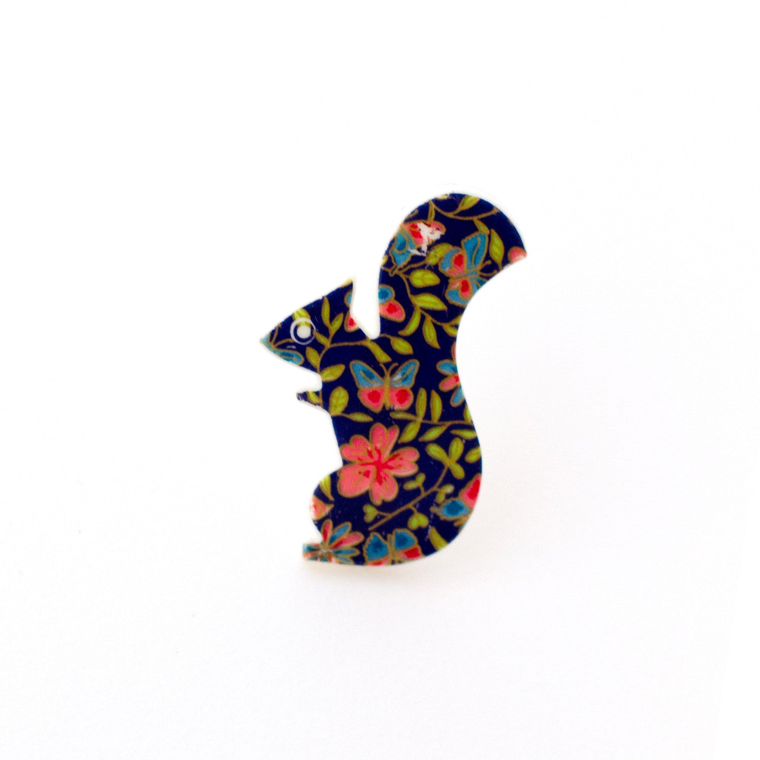 floral print vintage squirrel shaped hair pin