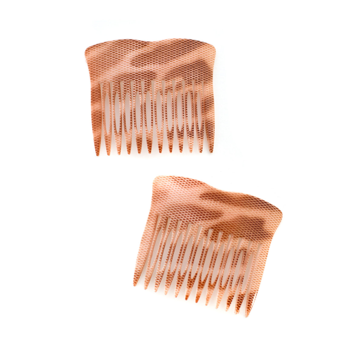 Vintage Peach Animal Print Combs