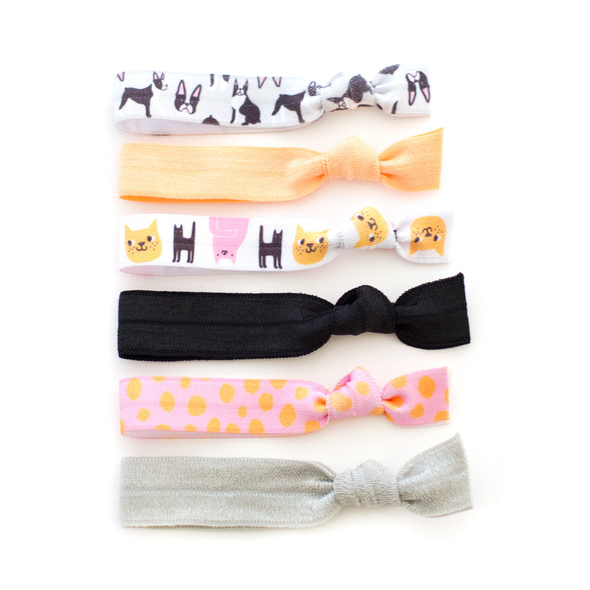 boston terrier dog hair tie package cat mane message eva stalinski