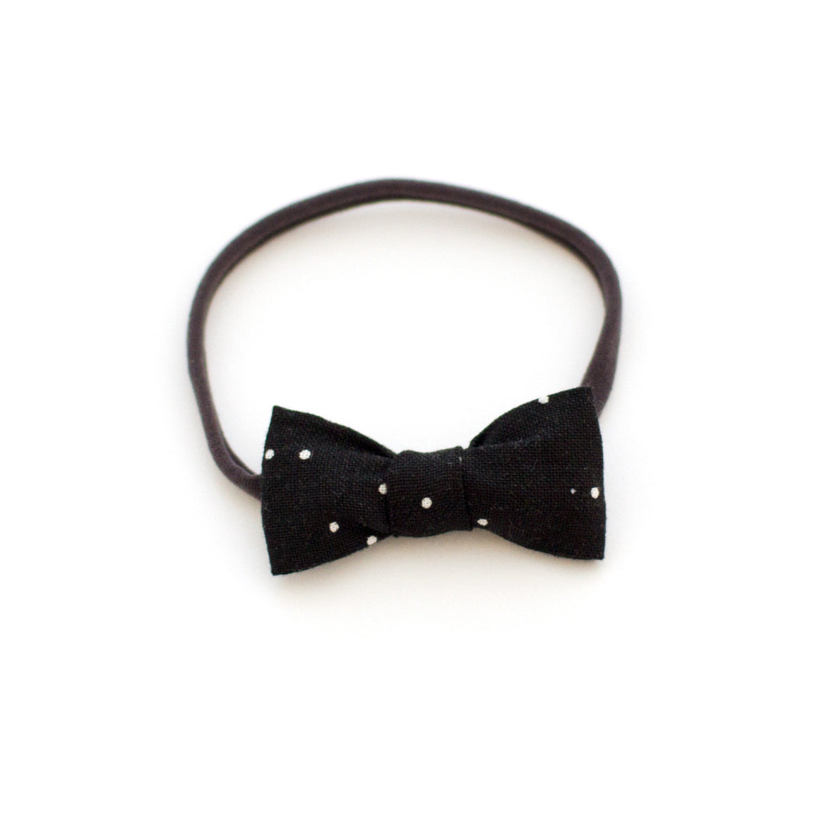 black polka dot baby headband - dark color simple and easy