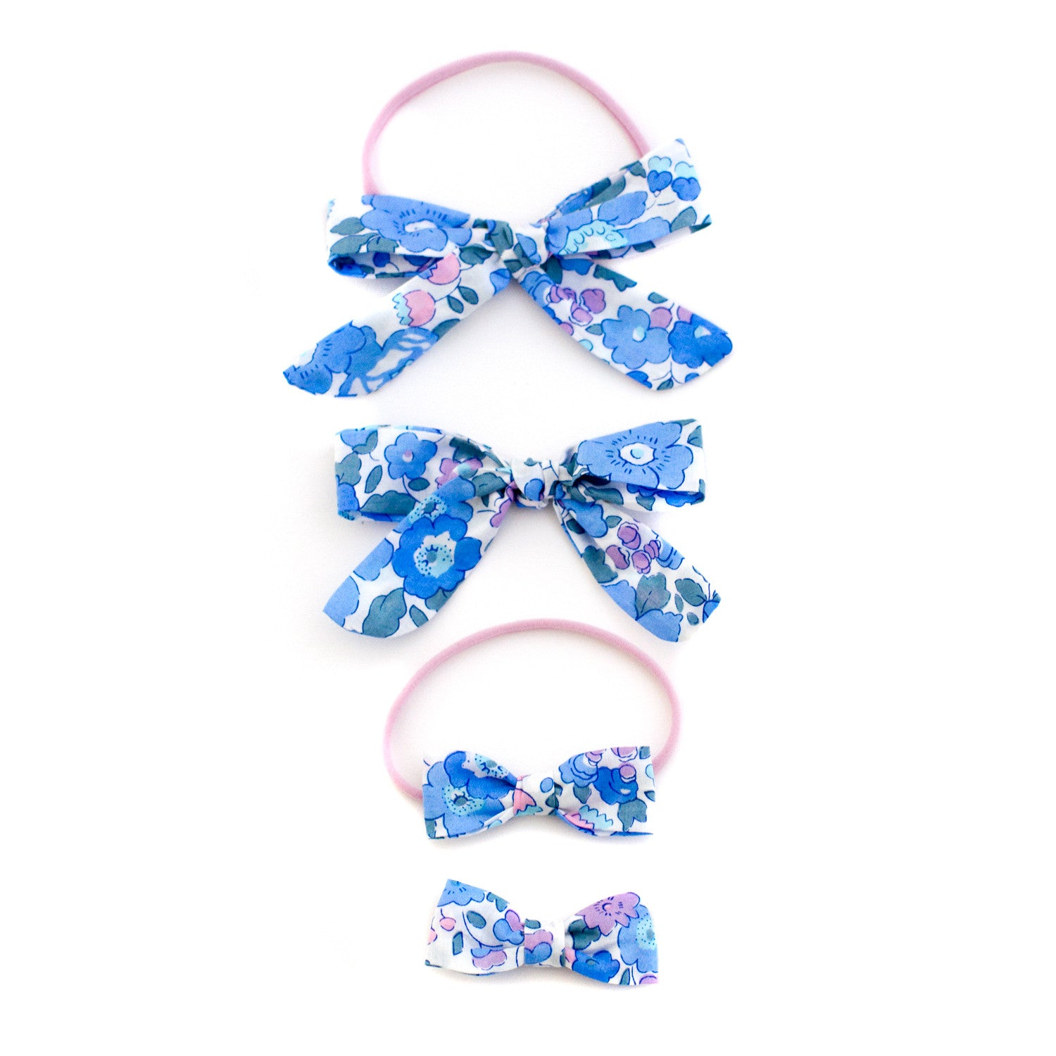 blue liberty of london baby headbands and bows by mane message