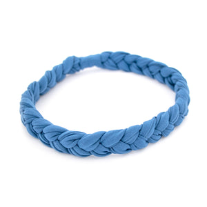 Blue Braided Workout Headband
