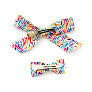 Rainbow Disco Liberty of London Baby Bows