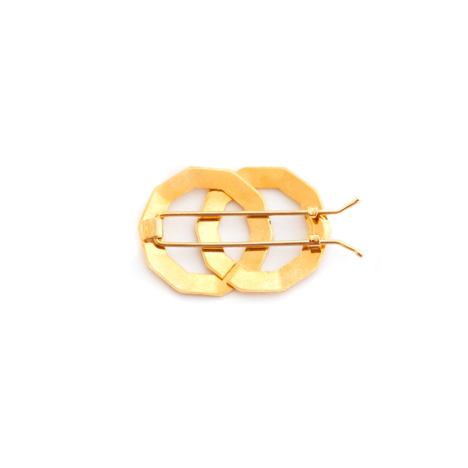 Vintage Gold Polygon Barrette