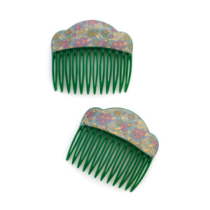 Vintage Liberty Floral Combs
