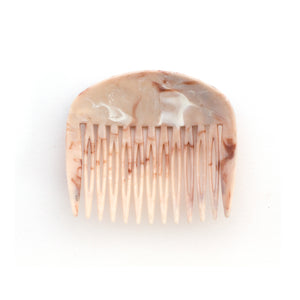 Vintage Floral Peach Marbled Combs