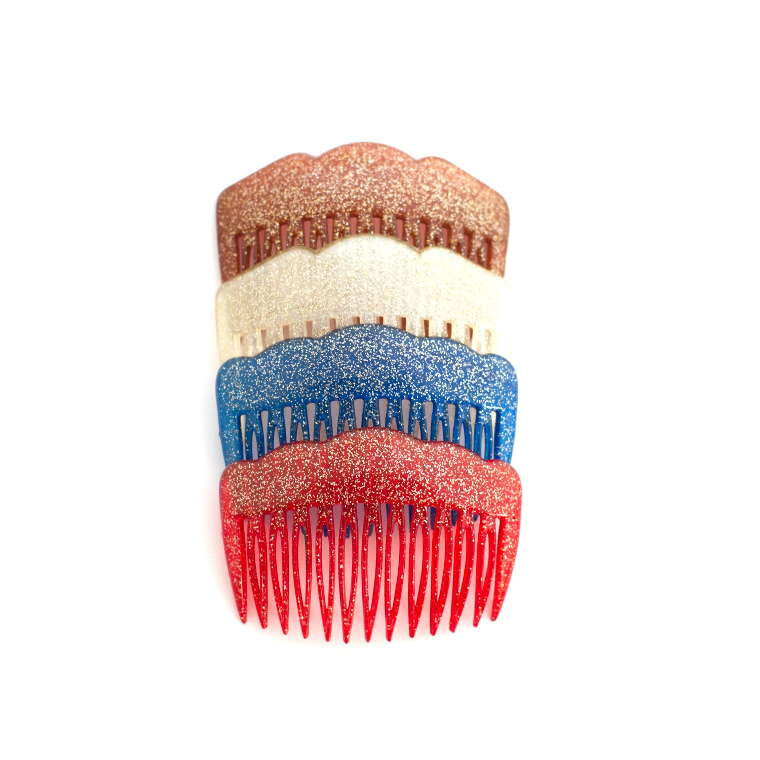 vintage french hair combs - pin up beauty - rockabilly - retro hair accessories