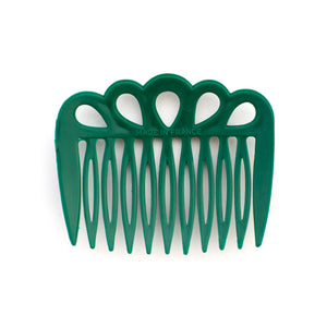 Vintage Forest Green Cutout Combs