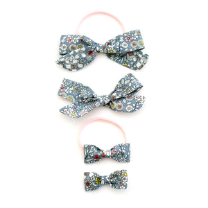 grey liberty of london baby bows