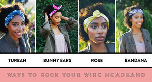 Navy and Pink Geometric Wire Headband