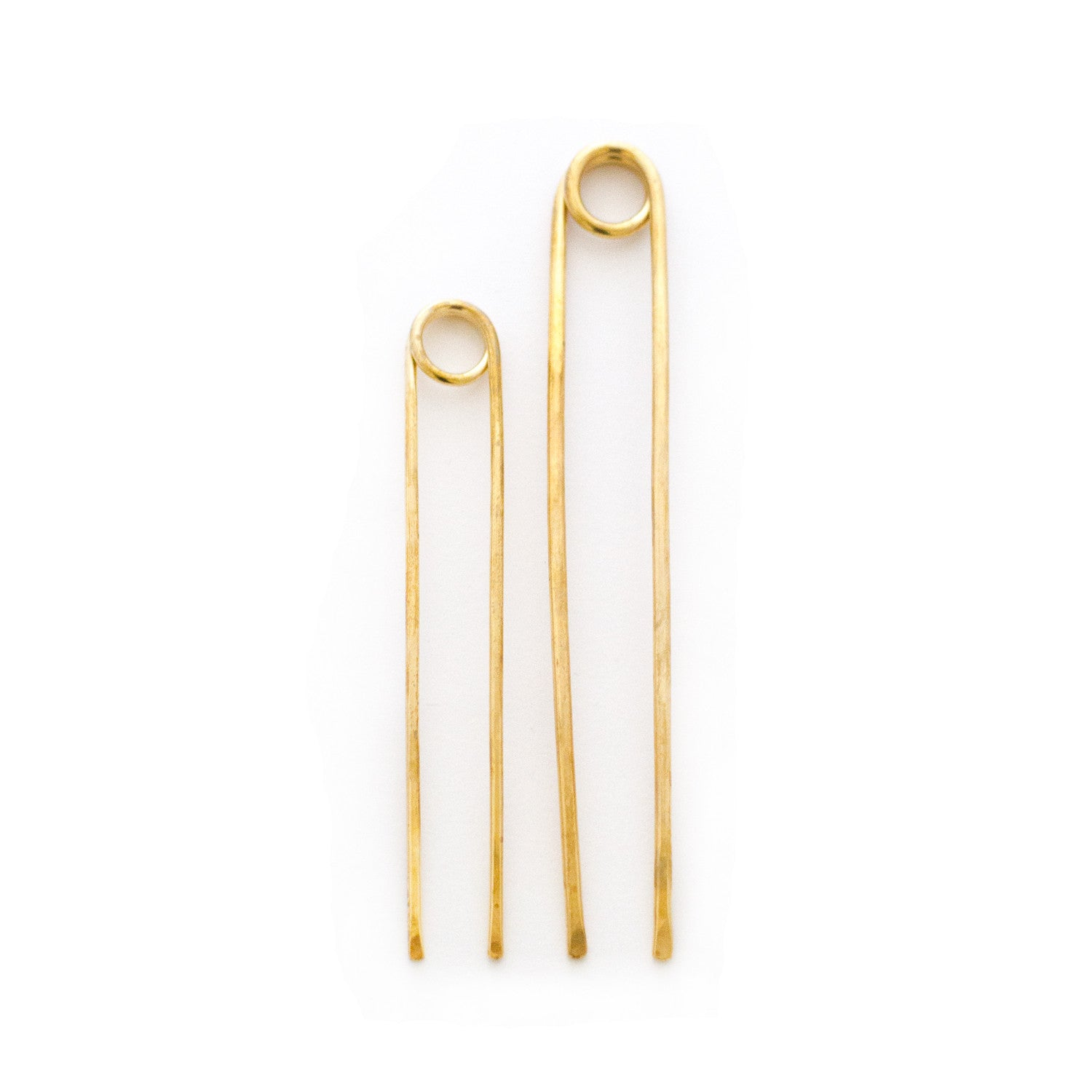 loop brass hair pin for buns topknots french twists