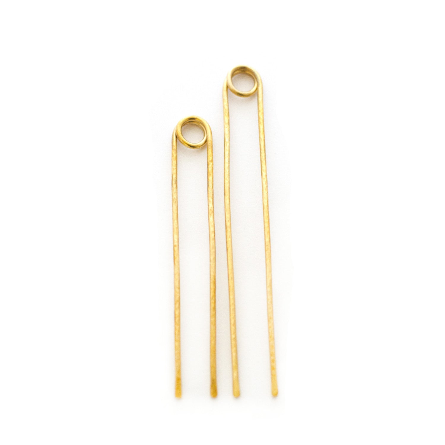 textured loop brass hair pins for buns