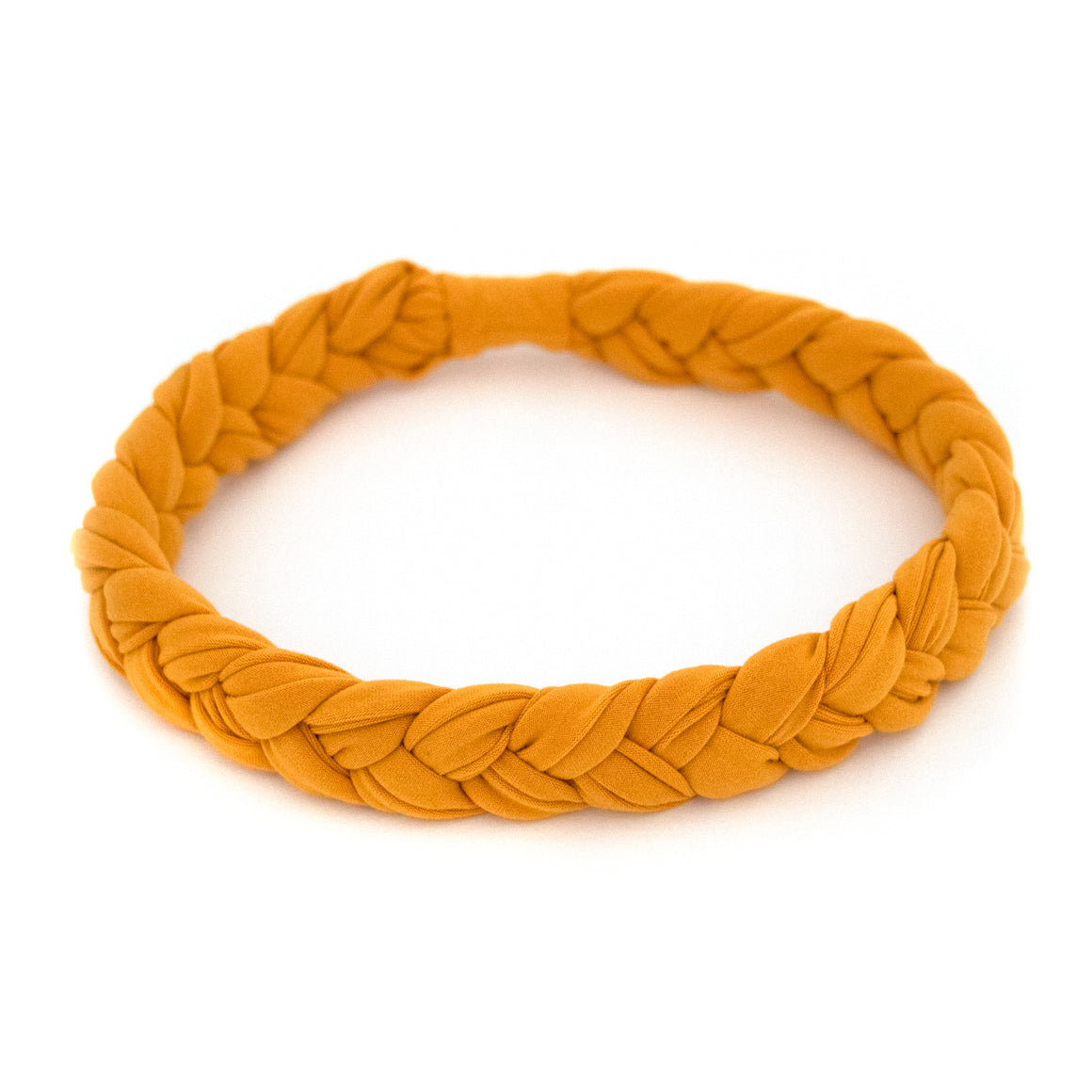 Mustard Braided Workout Headband