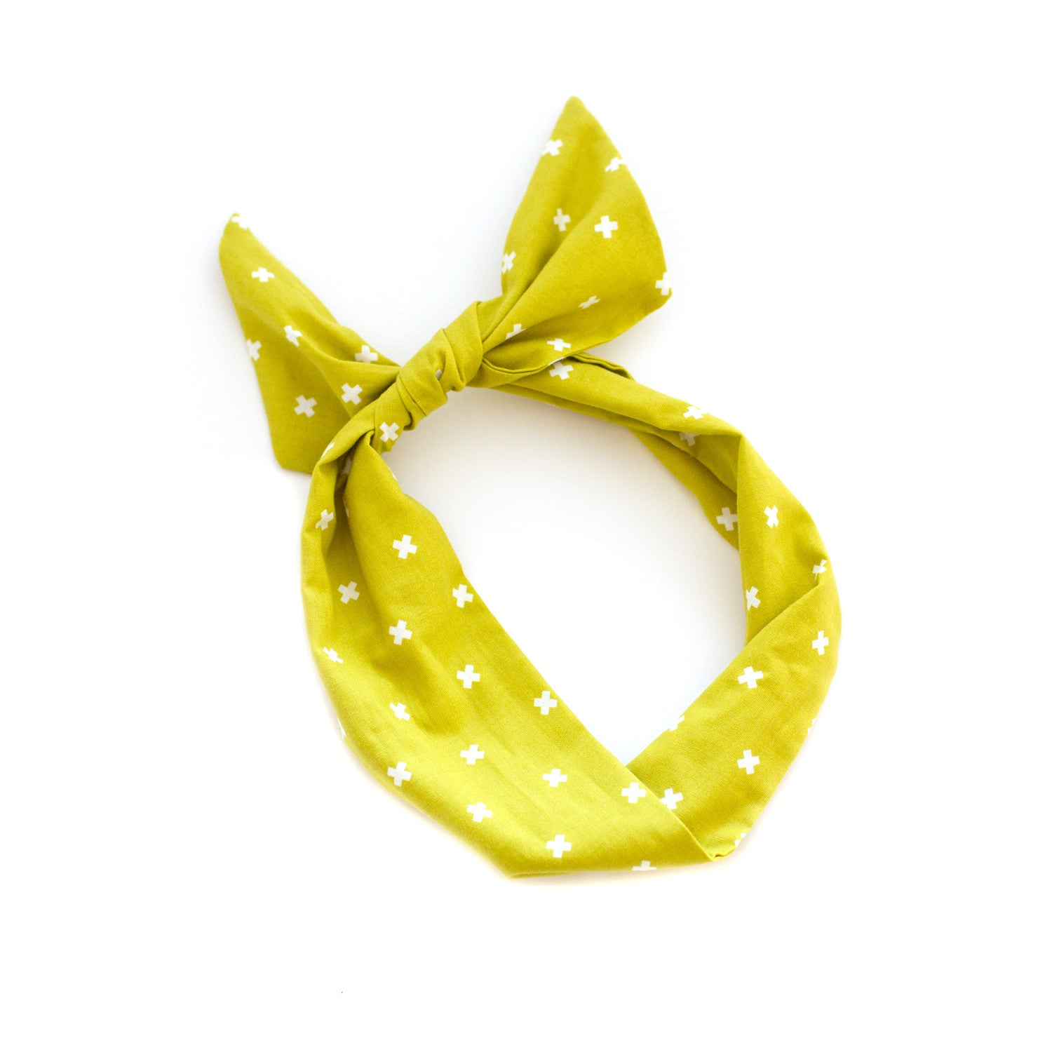 mustard plus sign wire headband scarf by mane message hair accessoires