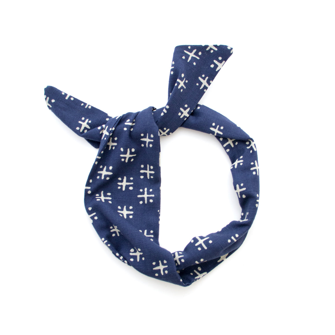 navy plus sign wire headband