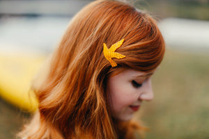 a clothes horse blog wearing bird vintage barrette by mane message