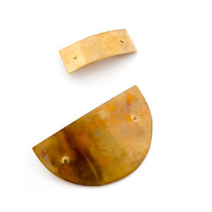 Brass Barrettes by Mane Message - Example of Patina