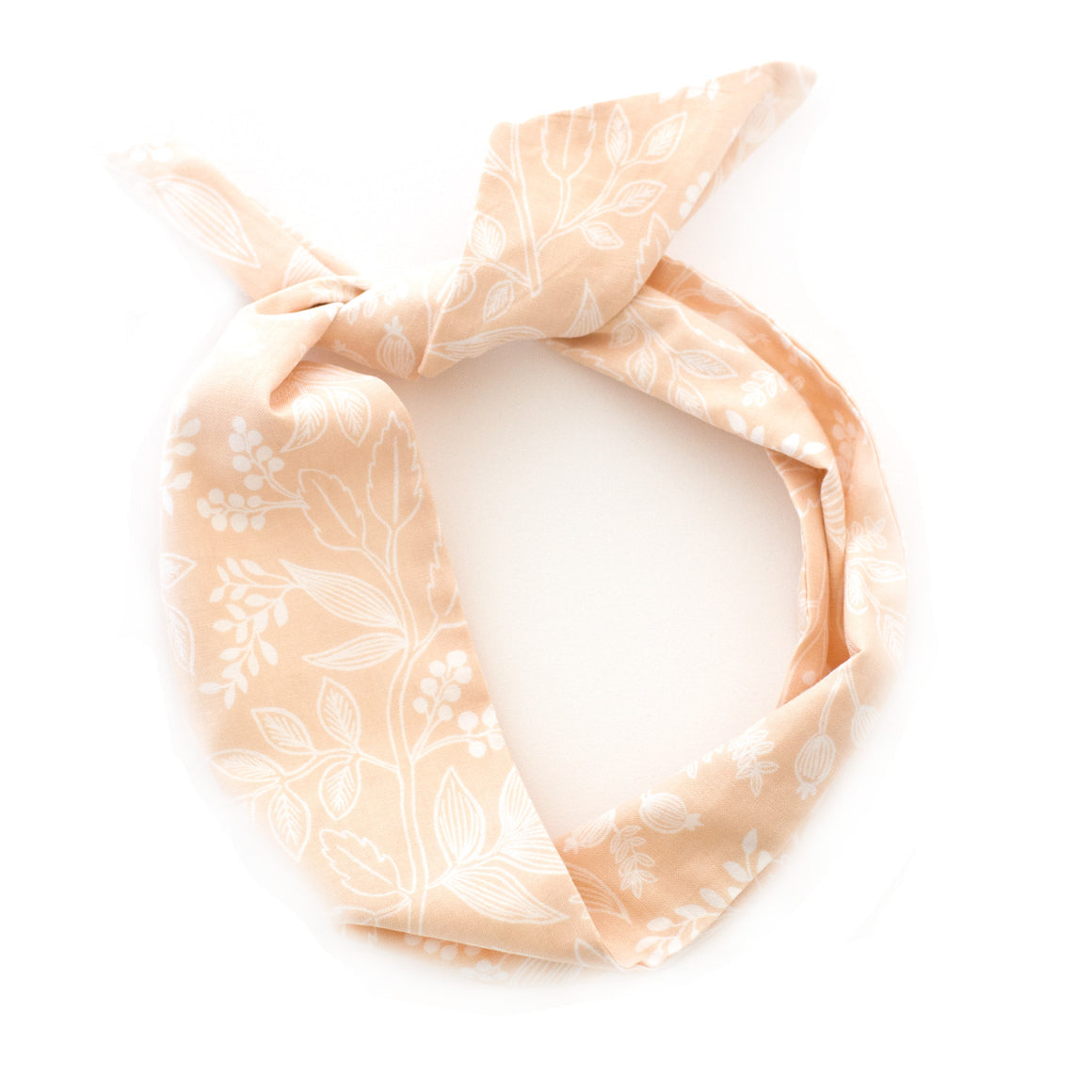 peach botanical wire headband by mane message