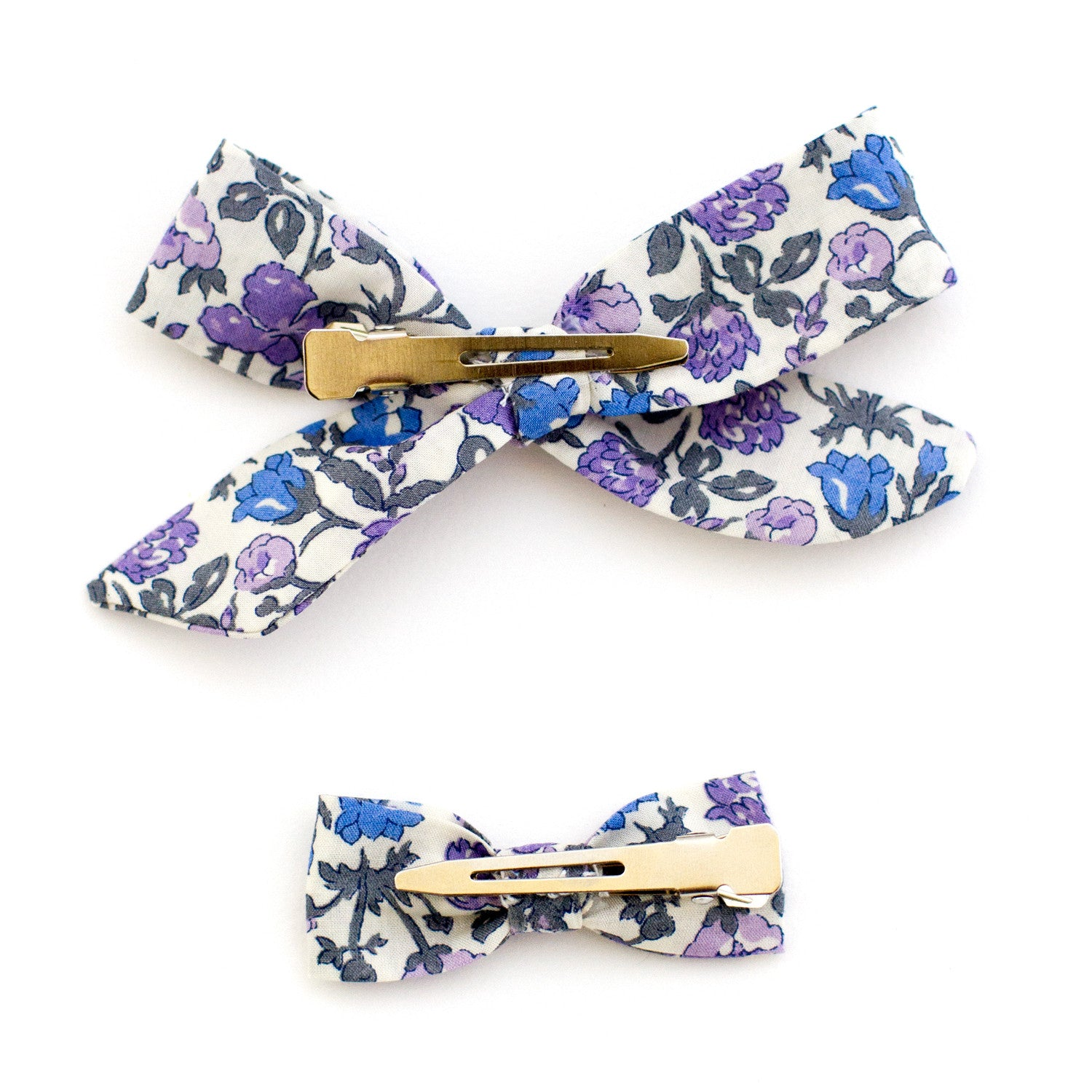 Purple Floral Liberty of London Baby Bows