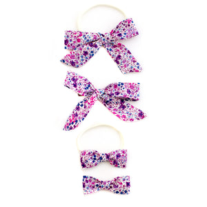 Lavender Garden liberty of london baby headbands by mane message