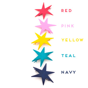 bright bold star hair pins by mane message