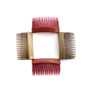 Vintage Folded Stripe Combs