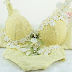 Romantic Lavender Lolita Sexy Lingerie Women Bra Set Push Up Bra setsdresskily-dresskily