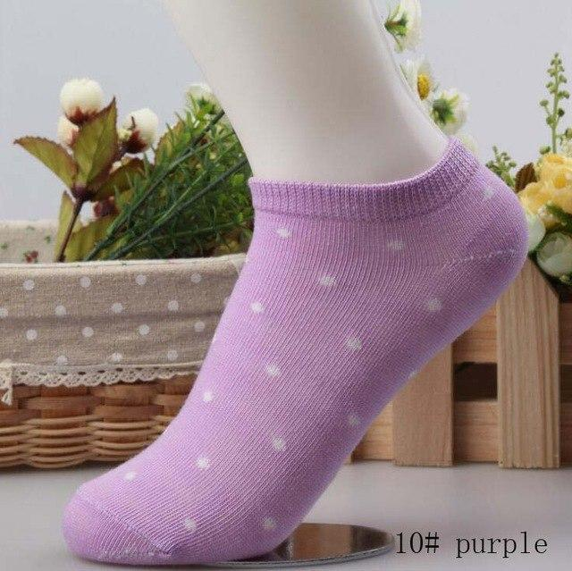 ankle socks nice dot cotton elastic short ship candy color slippersdresskily-dresskily