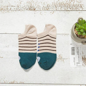 Warm comfortable cotton girl women's socks ankle low female invisible color girldresskily-dresskily