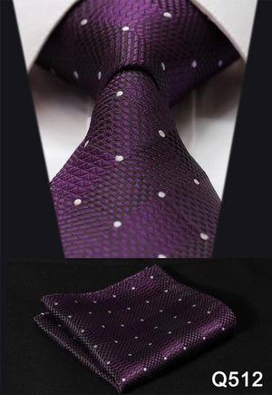 "Check 3.4"" Silk Fashion Mens Extra Long Tie Necktie Handkerchief Set #Q5dresskily-dresskily"