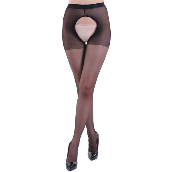 Sexy Wild Women Crotchless Sheer Pantyhose Silk Stockings Tights Black Skin Whitedresskily-dresskily