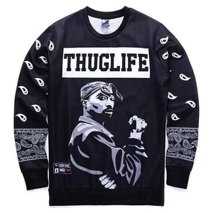 Mr.1991INC Europe And America fashion men's hip hop hoodies print Rapper 2pacdresskily-dresskily