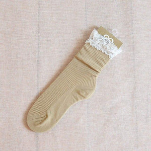 F&M High Quality cotton Lace Summer socks Elegant Warm Short dresskily-dresskily
