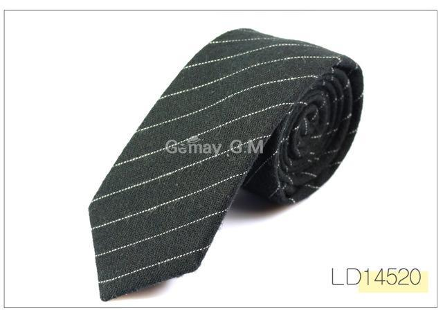 New Fashion Mens Ties 100% Cotton Necktie for Men Causal Stripe Tiedresskily-dresskily