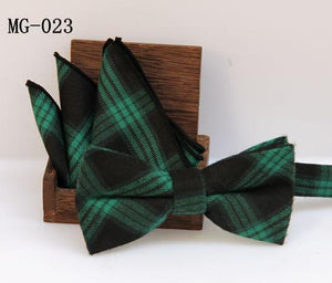 Check bowknot set Classic cotton Jacquard Woven Men Butterfly Bow Tie BowTiedresskily-dresskily